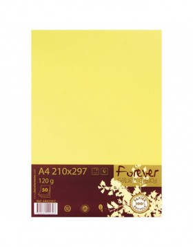 Pack 50 sheets of paper Forever, A4, 120g yellow