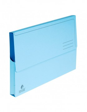 Pack of 10 briefcases with blue cap A4
