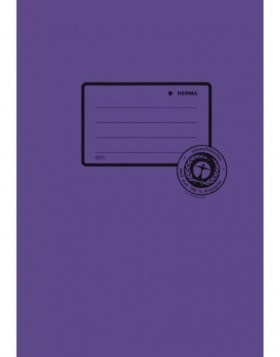 Exercise book cover paper A5 violet 100% wastepaper