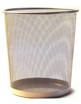 paper bin by officional silver
