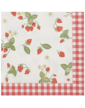 Papierservietten Strawberry Garden 33x33 cm