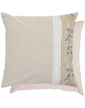 Patchwork Pillowcase country style beige-pink 50x50 cm