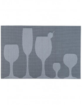 blue-grey place mat - 63265 Clayre Eef