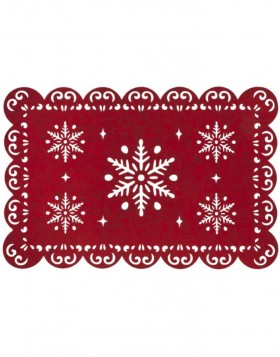 red place mat - FE040.001LR Clayre Eef