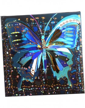 Poesiealbum Flower Butterfly blau