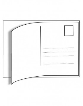 10 postcard labels 9.5x14.5 cm white