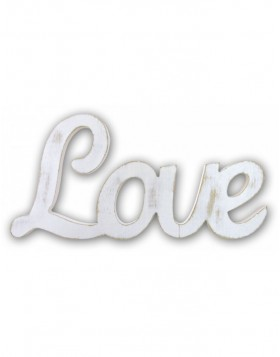 Real Love Wooden decoration 52x28 cm