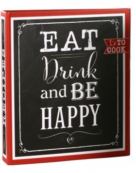 Recipe Book Eat, Drink & Be Happy