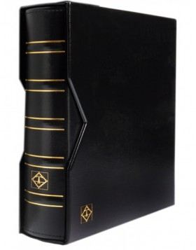 Ring binder Optima Classic with slipcase - black