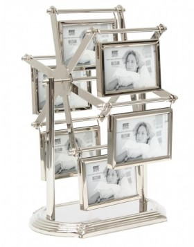Ruhana silver photo wheel for 12 pictures