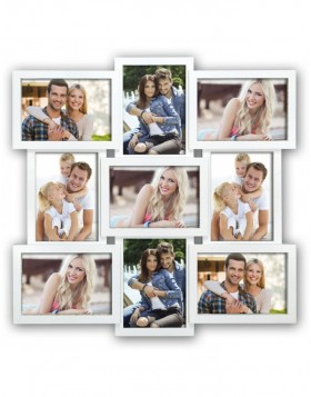 SANTANDER white gallery frame for 9 photos