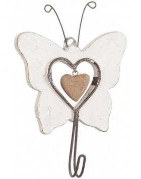 BUTTERFLY wooden hook 10x16 cm
