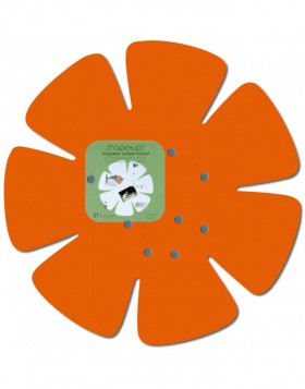 SHAPE UP Magnetwand in Blumenform in orange