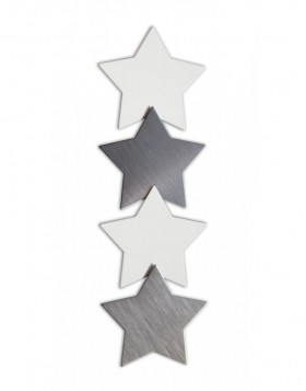 SHAPE-UP metal magnet stars 4 pieces
