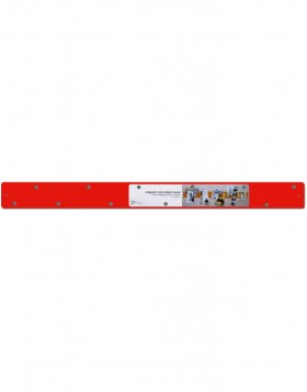 Skinny Magnetic Strip in red 12x1