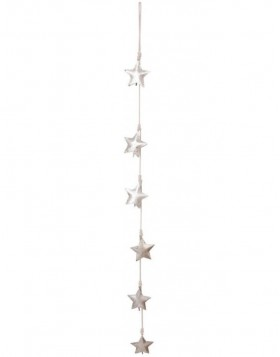 decoration rope STARS silber - 6Y1315 Clayre Eef