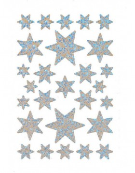 DECOR stickers stars iris. foil glittery 1 sheet