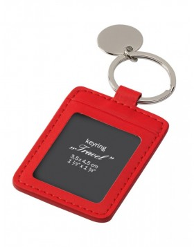 Keyring Travel red 3,5x4,5 cm