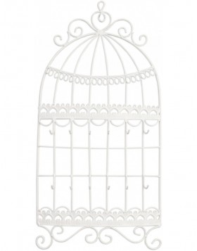 Jewelry holder white iron 23x5x50 cm