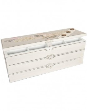 Jewelry box white nostalgic 27x10x10 cm