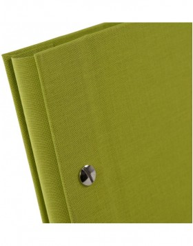 screw bound album Bella Vista green 39x31 cm black sides