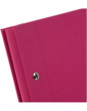screw bound album Bella Vista pink 39x31 cm black sides
