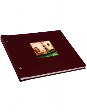screw bound album Bella Vista bordeaux 30x25 cm white sides