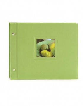 screw bound album Colore green 30x24,5 cm