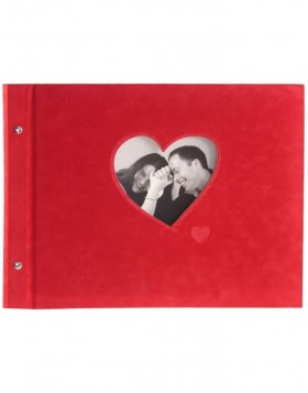 ROSSO screw-bound album in red