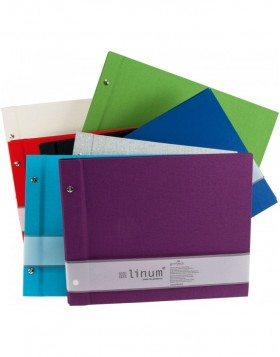 Screw Bound photo album LINUM 30 x 25 cm and 39 x 31 cm