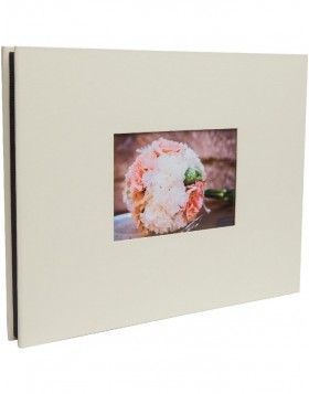 Screw boun photo album Laddi 38x30 cm white and black sides