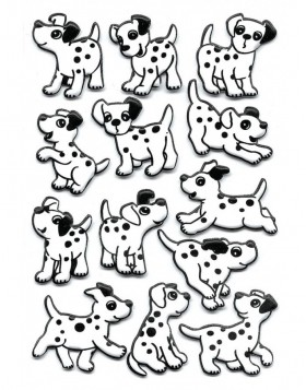 Dalmatian Puppy Stickers