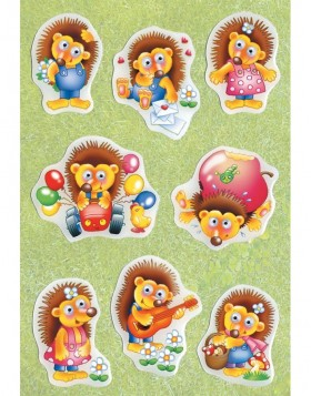 decorative labels Funny Hedgehog - moving eyes