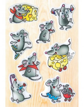 decorative labels Funny Mouse - moving eyes