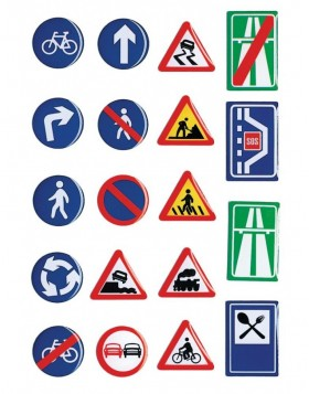 Stone sticker Road signs