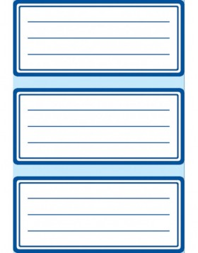 Book cover labels 76x35mm  blue edge 6 sheets