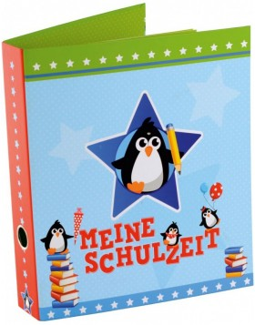 School pickup folder A4 penguins