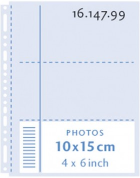 Henzo photo pockets  6x 10x15 cm transparent