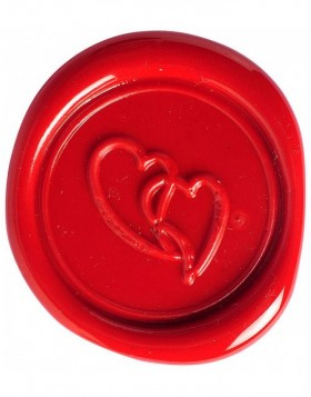 Set sealing wax heart