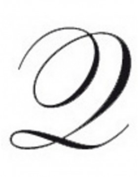 Seal around with wooden handle Q in italics