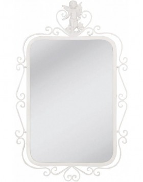 mirror with angel 51x82 cm white