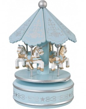 music box Ø 10x20 cm light blue