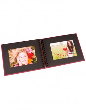 spiral bound photo album BULDANA crimson laid