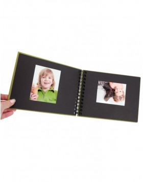 Spiral bound photo album BULDANA olive laid