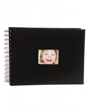 Spiral bound album BULDANA black matt