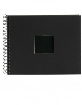Spiral album Bella Vista black 35x30 cm black pages