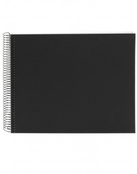 Spiral album Bella Vista black 35x30 cm white pages