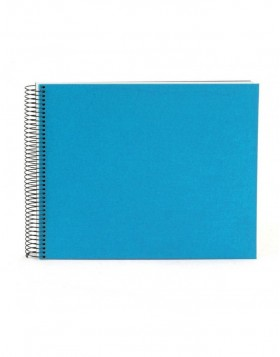 Spiral album Bella Vista turquoise 35x30 cm white pages