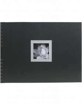 Spiral bound photo album Ceremony black sides
