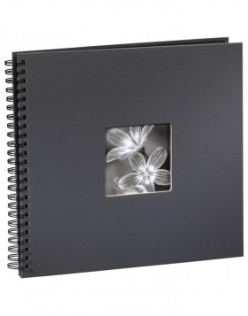 Fine Art Spiralbound Album, 36 x 32 cm, 50 black pages, grey
